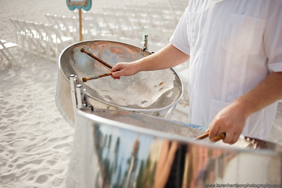 Steel Drum wedding ceremony and cocktail hour at the Clearwater Beach Hyatt