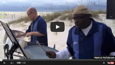 "Video –  Caladesi Steel Band ""Matilda"" on Clearwater Beach."