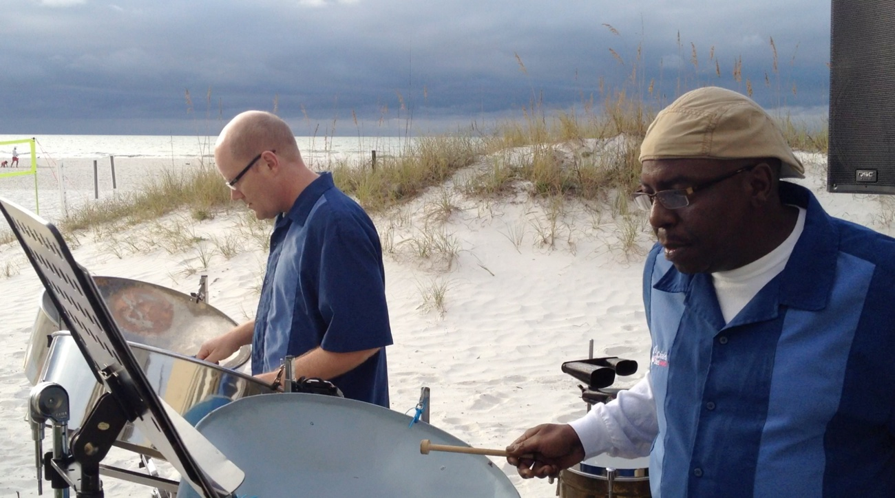 Dave and Johnny of Caladesi Steel Band at the Sandpearl on Clearwater Beach
