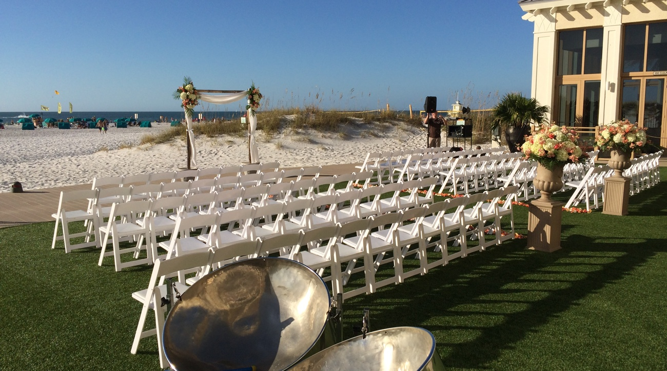 Steel Drum Wedding Ceremony at the Sandpearl Clearwater Beach