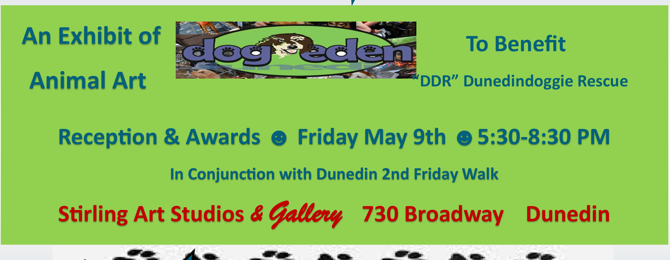 Art for the Rescue – An Exhibition of Animal Art to benefit Dunedin Doggie Rescue