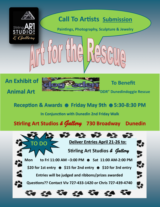Dunedin Doggie Rescue - Art for the Rescue