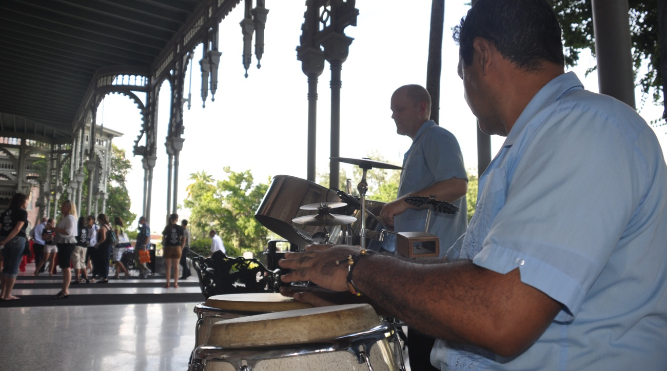 Steel Drums and Congas at the University of Tampa - photo courtesy UT
