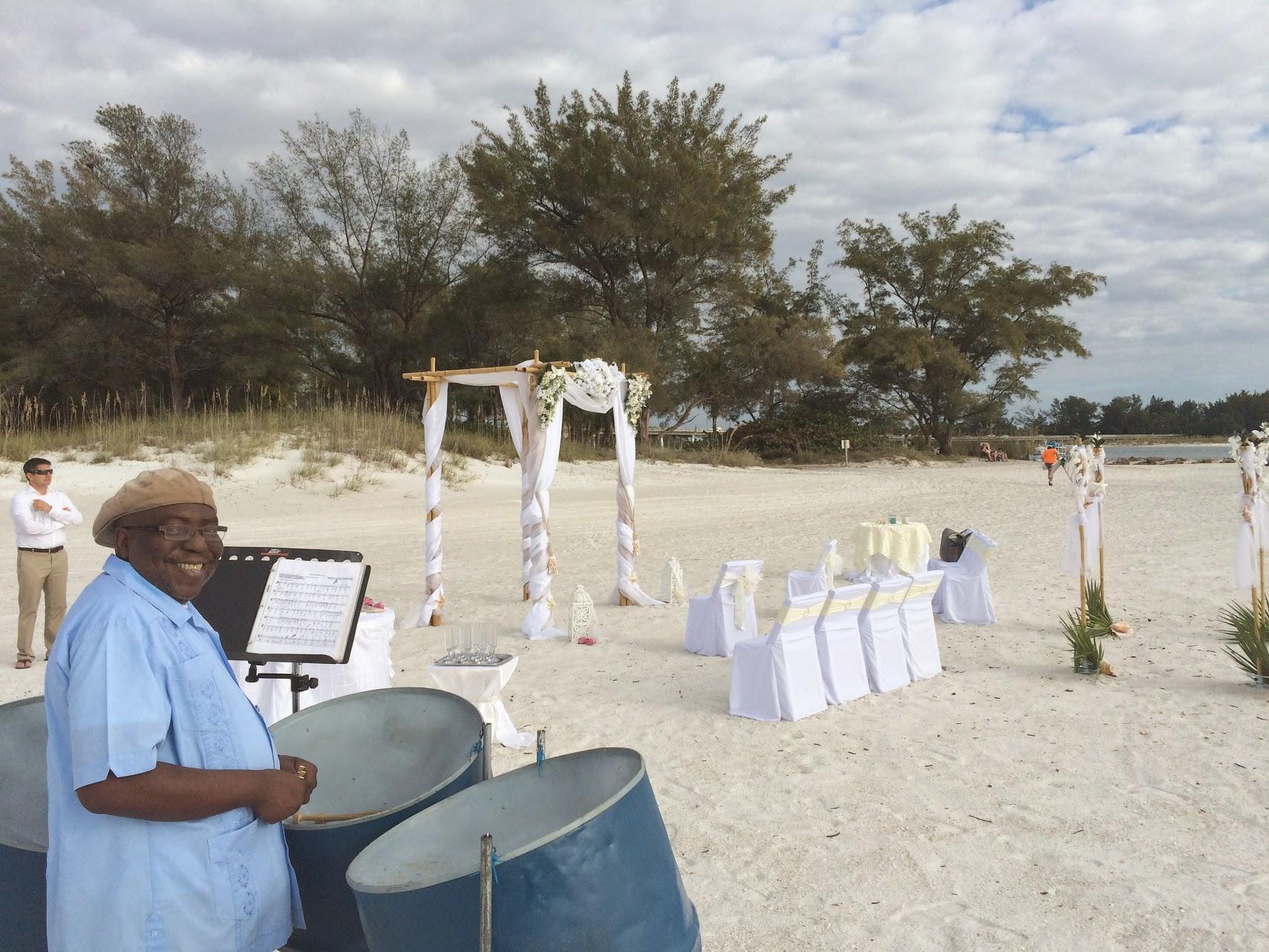 Steel Drum Band Wedding At Bradenton Beach On Anna Maria Island Fl