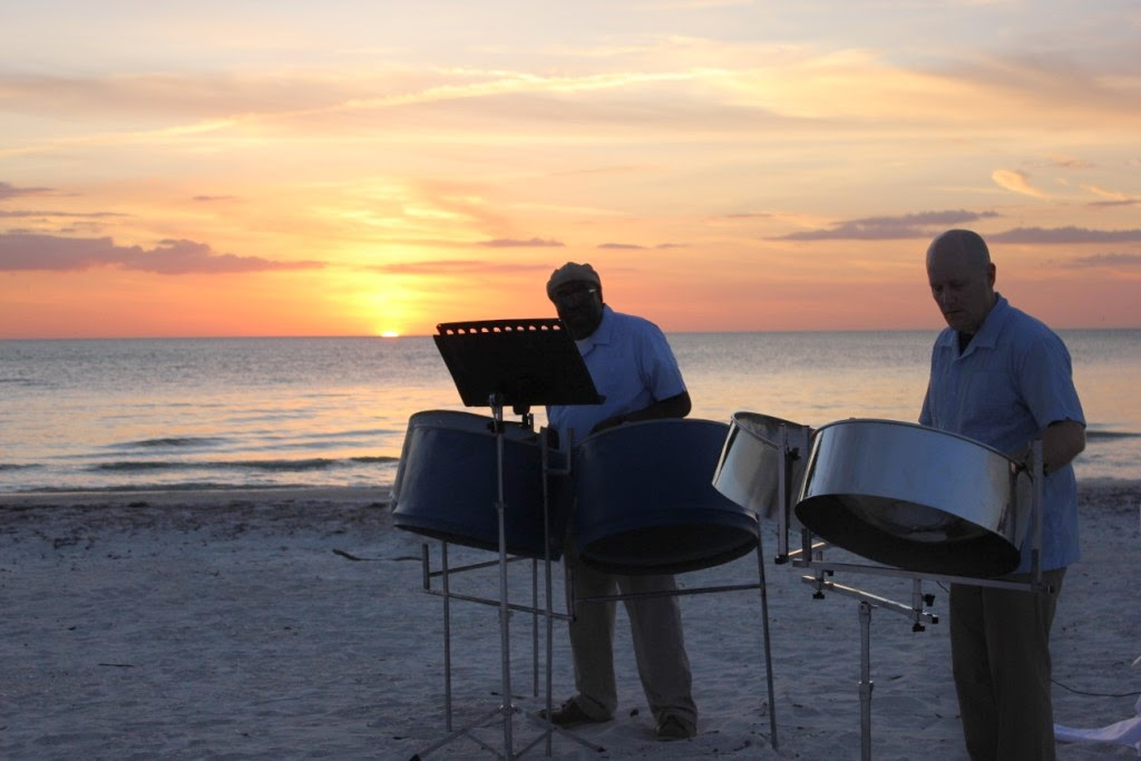 Steel Drum Band Sunset on Bradenton Beach, Florida
