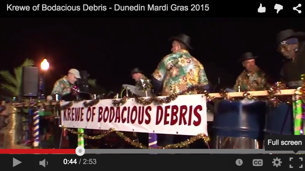 Dunedin Mardi Gras Steelband at 2015 Parade