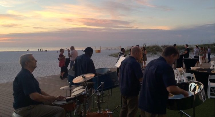 Caladesi Steel Band quartet at the Sandpearl Resort Clearwater Beach