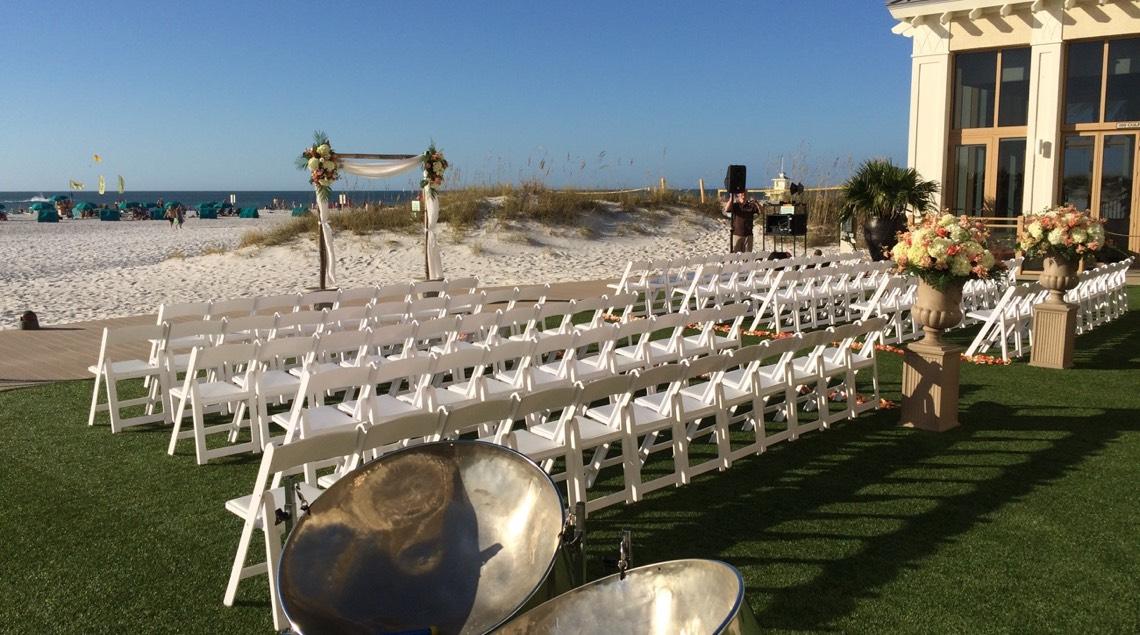 Caladesi Steel Band Sandpearl Wedding
