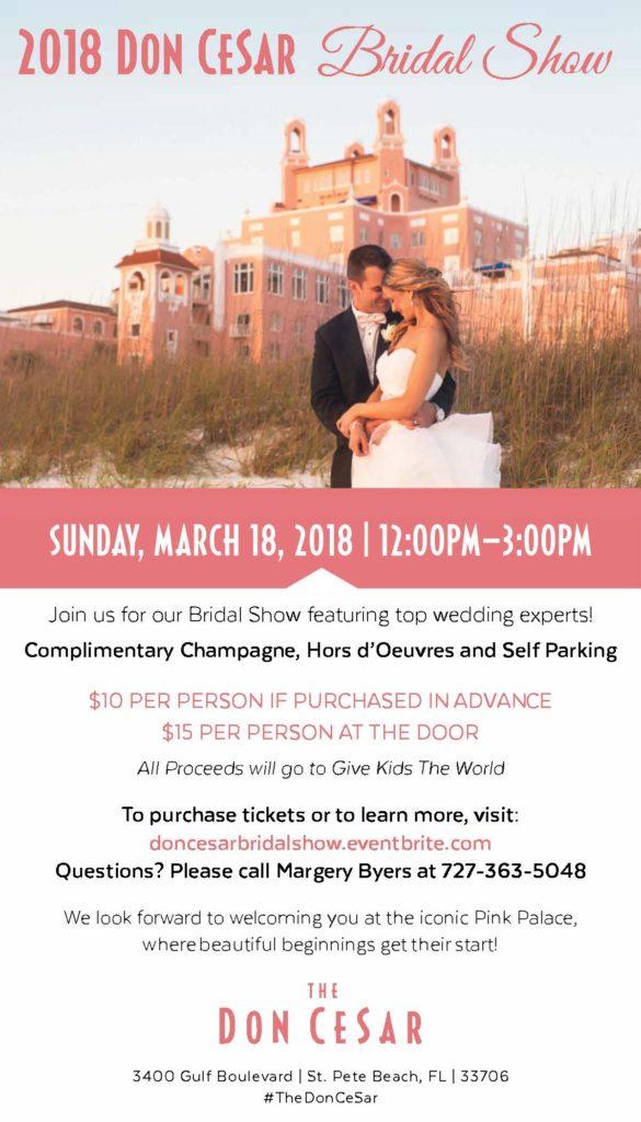 2018 Don CeSar Bridal Show Flyer